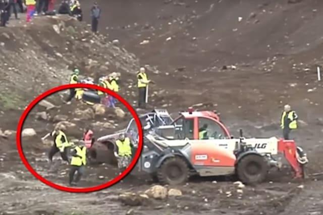 Terrifying moment photographer survives hit from one tonne car