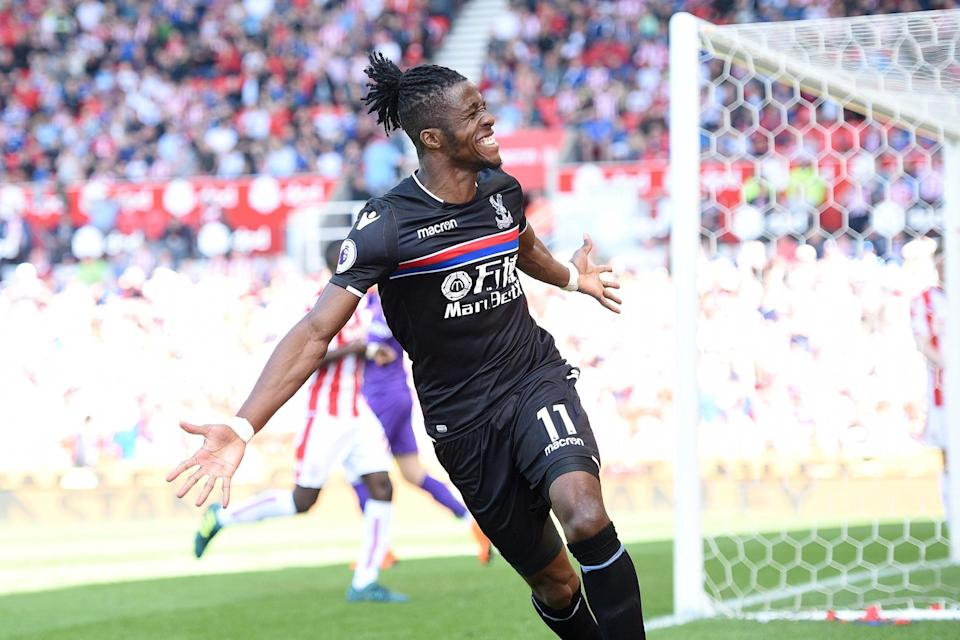 <p>Wilfried Zaha was a target for Arsenal when Unai Emery was head coach</p>AFP/Getty Images