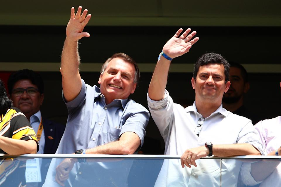 Presidente Jair Bolsonaro empataria com Sergio Moro no segundo turno das eleições de 2022 (Photo by Buda Mendes/Getty Images)