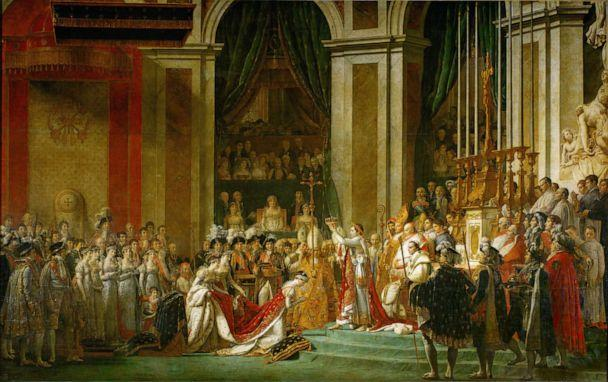 PHOTO: A painting by Jacques Louis David, 1748-1825, depicts the coronation of Napoleon as the Emperor of the French in Notre Dame Cathedral in Paris on Dec. 2, 1804. (Imagno/Getty Images)