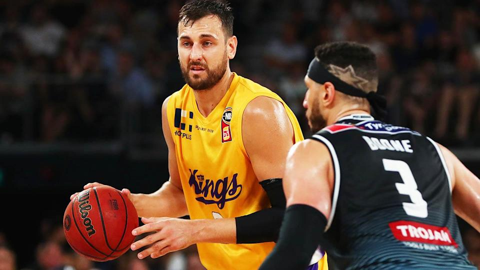 Andrew Bogut in action for the Sydney Kings. (Photo by Michael Dodge/Getty Images)