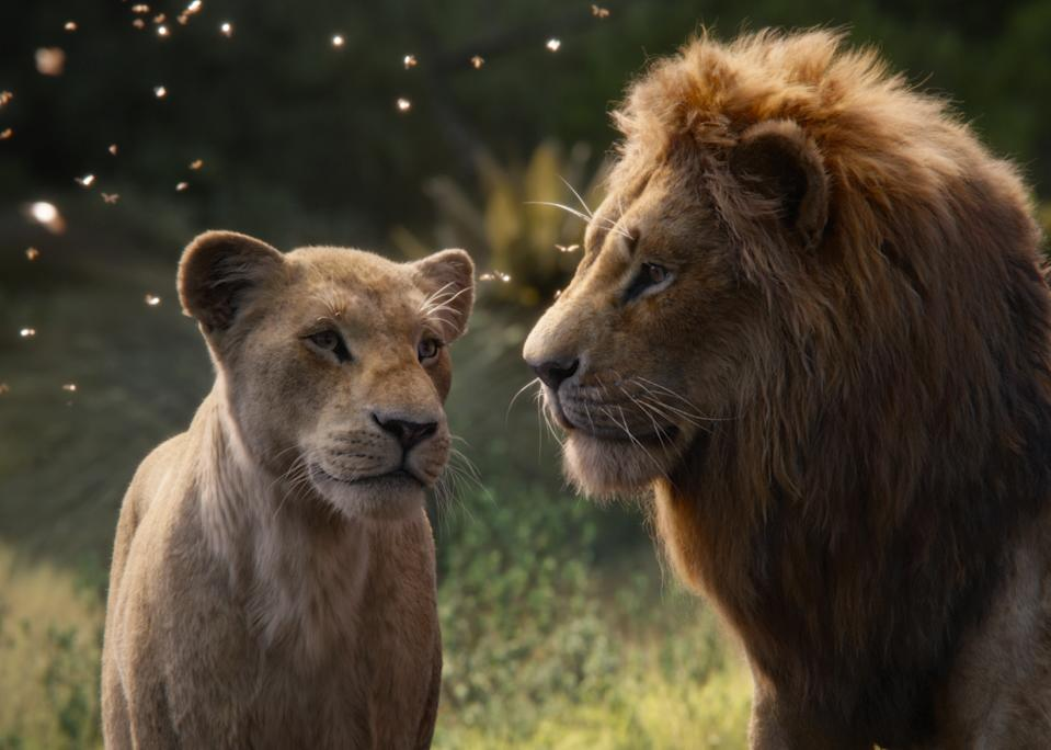 Featuring the voices of Beyoncé Knowles-Carter as Nala and Donald Glover as Simba, Disney's <i>The Lion King</i> is directed by Jon Favreau. (2019 Disney Enterprises, Inc. All Rights Reserved.)