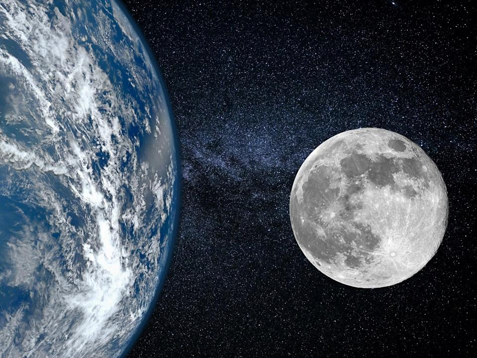 Keeping things interesting, the Moon's orbit is not fixed, but 'wobbles' around the Earth on a long 18-year cycle (Getty)