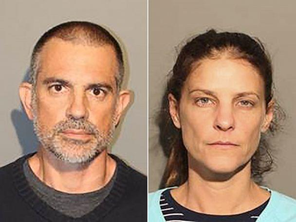 PHOTO: Fotis Dulos and Michelle Troconis in police booking photos. (New Canaan Police Department )
