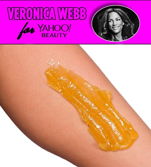 Veronica Webb tries out the ancient hair-removal treatment of sugaring. (Photo: Getty Images)