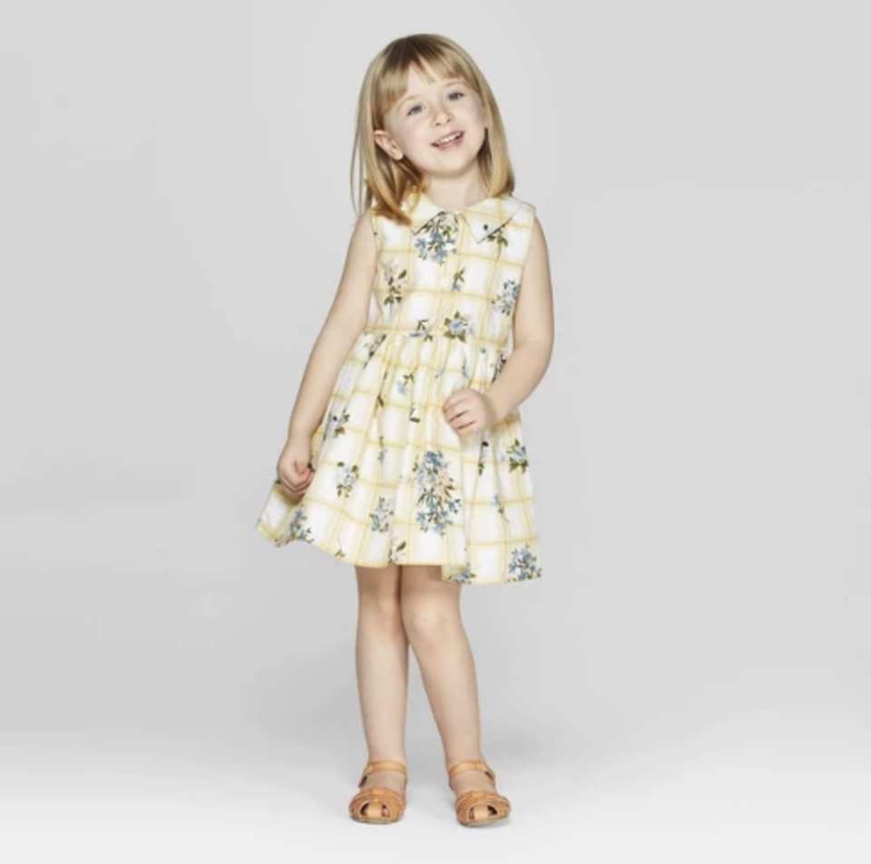 Mila & Emma Toddler Girls' Floral Print Sleeveless A-line Dress. (Photo: Target)