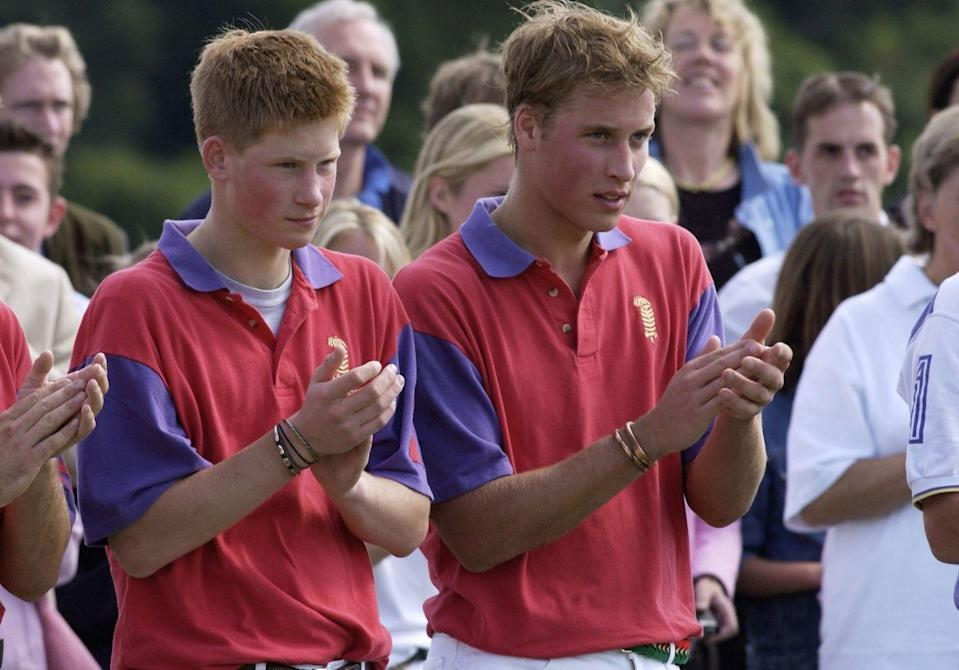 <p>It's not just the royal women who appreciate gold! A young Prince William was spotted wearing gold bracelets at a polo match at Cirencester. </p>
