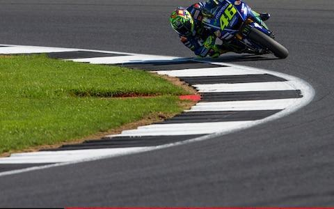 <span>Valentino Rossi in action at Silverstone</span> <span>Credit: Tim Williams/Action Plus </span>
