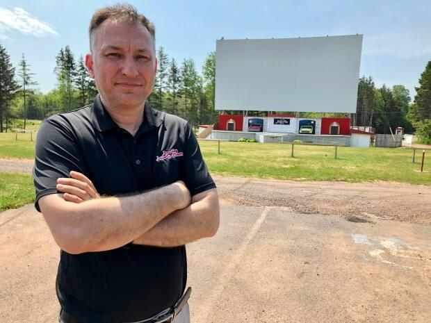 Bob Boyle, owner of the Brackley Drive-In, suggests government provide direct grants of 15 to 20 per cent of a business's sales from 2019 for those hardest hit during the COVID-19 pandemic.  (Steve Bruce/CBC - image credit)