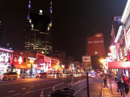 The downtown district is pictured in Nashville