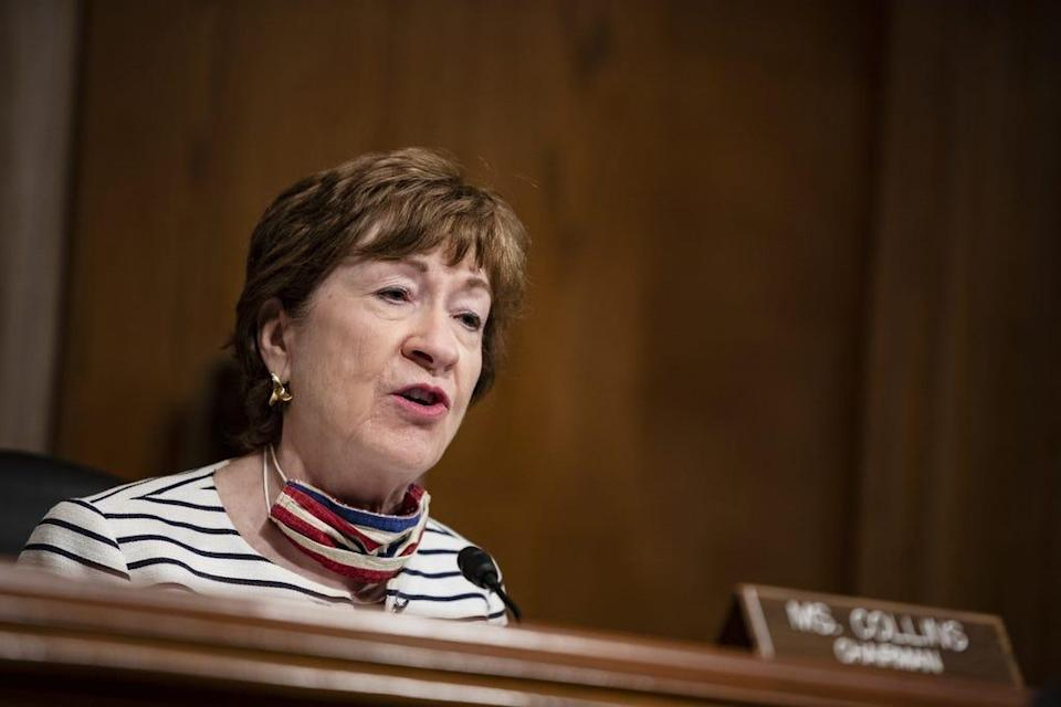 Sen. Susan Collins, R-Maine, spoke out on Aug. 1, 2021, against how House Speaker Nancy Pelosi handled Republicans who were nominated to the House Select Committee that is investigating the Jan. 6 Capitol riot.