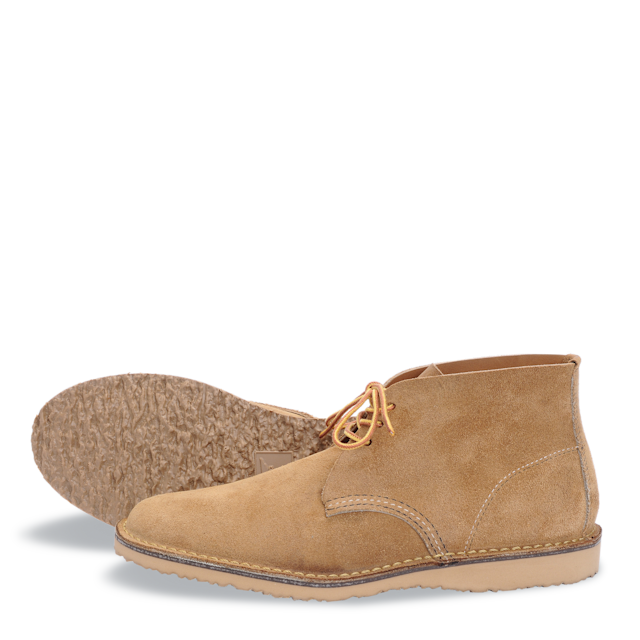 """<p>Red Wing """"Heritage's Weekender Chukka,"""" $230. Available on <a href=""""http://www.redwingheritage.com/us/USD/product/mens-footwear/chukkas/chukka-hawthorne-muleskinner-03321"""" rel=""""nofollow noopener"""" target=""""_blank"""" data-ylk=""""slk:redwingheritage.com"""" class=""""link rapid-noclick-resp"""">redwingheritage.com</a> </p>"""