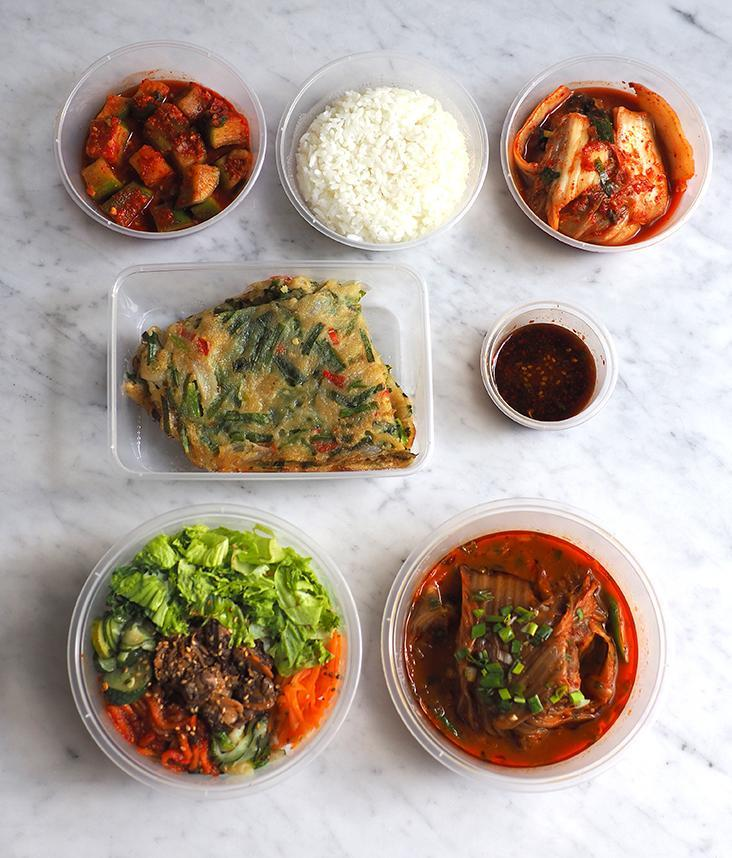 Your takeaway is packed in individual boxes and the one with the stew double wrapped with cling film to prevent any spillage.