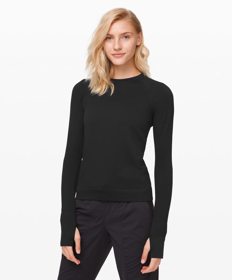 Rest Less Pullover in black.