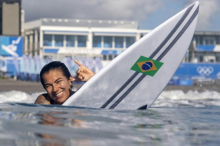 Brazil's Silvana Lima is one of 20 women competing in the inaugural Olympic surfing competition in Tokyo