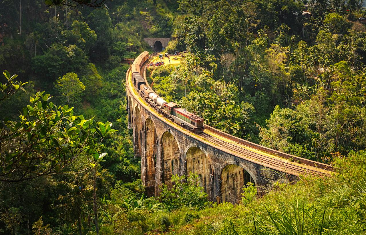 <p>Famed for its ancient Buddhist ruins, scenic train journeys and delicious curry-based cuisine, Sri Lanka – formerly known as Ceylon – has topped the Lonely Planet list this year. Whether beach resorts or wildlife hikes are your bag, this country has something for you. [Photo: Getty] </p>