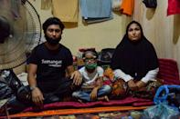 After recognising his wife and daughter, Shah quit his job in Malaysia and made his way to the camp in Indonesia where they were living