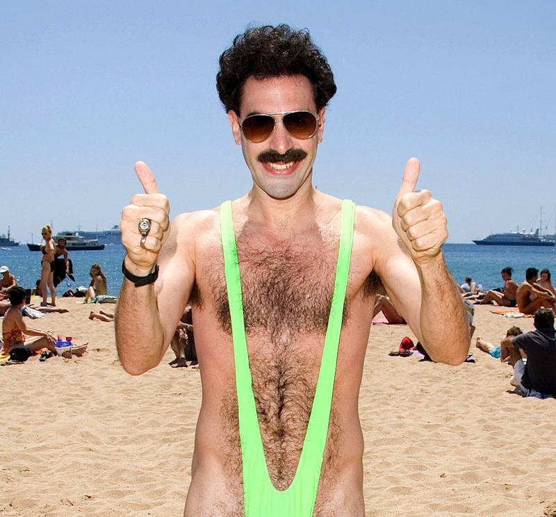 c7ddcb5de47f5 Sacha Baron Cohen offers to pay fine for Czech tourists sporting Borat  mankinis in Kazakhstan