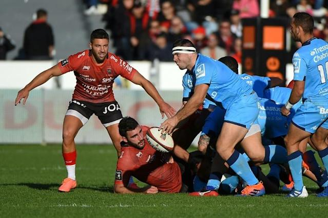 Ex-France captain Guilhem Guirado made his first appearance for Montpellier in the 19-19 draw against former club Toulon (AFP Photo/Sylvain THOMAS)