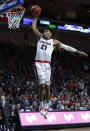 Gonzaga's Rui Hachimura dunks against St. Mary's during the first half of an NCAA college basketball game for the West Coast Conference men's tournament title, Tuesday, March 12, 2019, in Las Vegas. (AP Photo/John Locher)