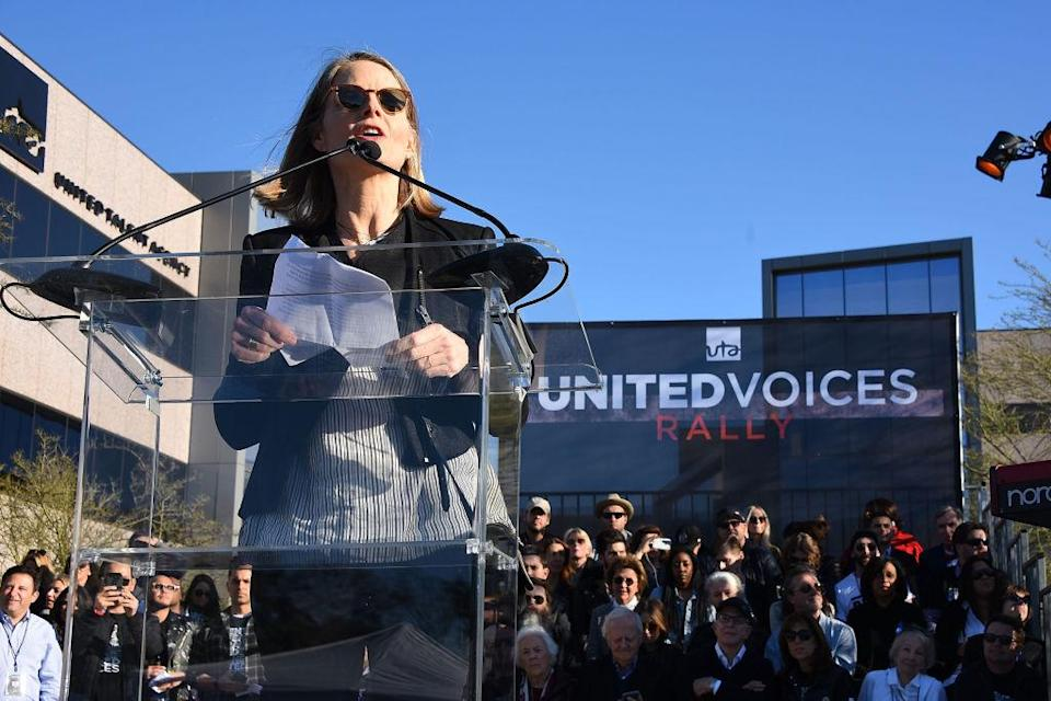 <p>Jodie Foster at the UTA rally (Photo: Getty Images) </p>