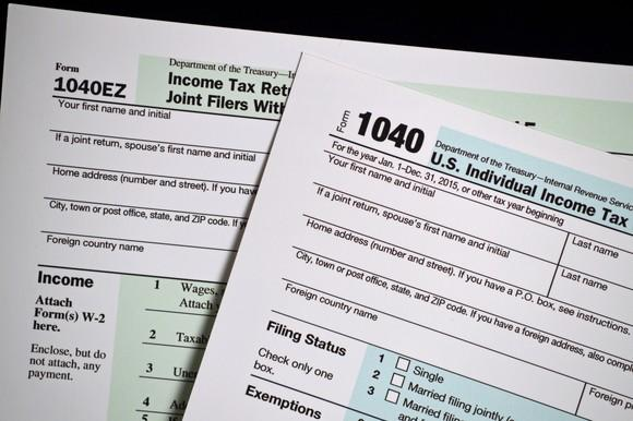 Tax Form 1040 and Form 1040EZ