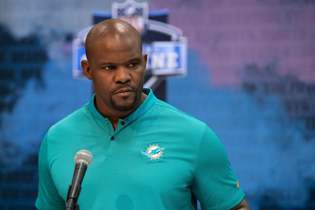 After a successful run with the Patriots as an assistant, Brian Flores will be rebuilding the Dolphins as their new head coach. (Getty Images)