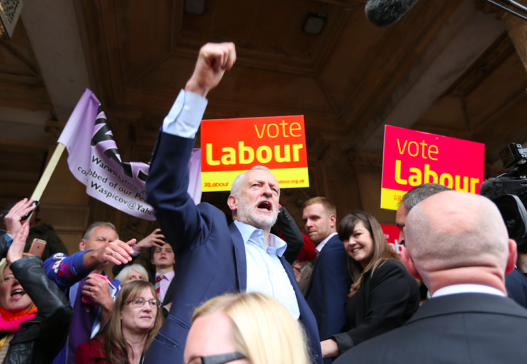 Jeremy Corbyn insists he will stay on as leader even if Labour lose the election (Rex)
