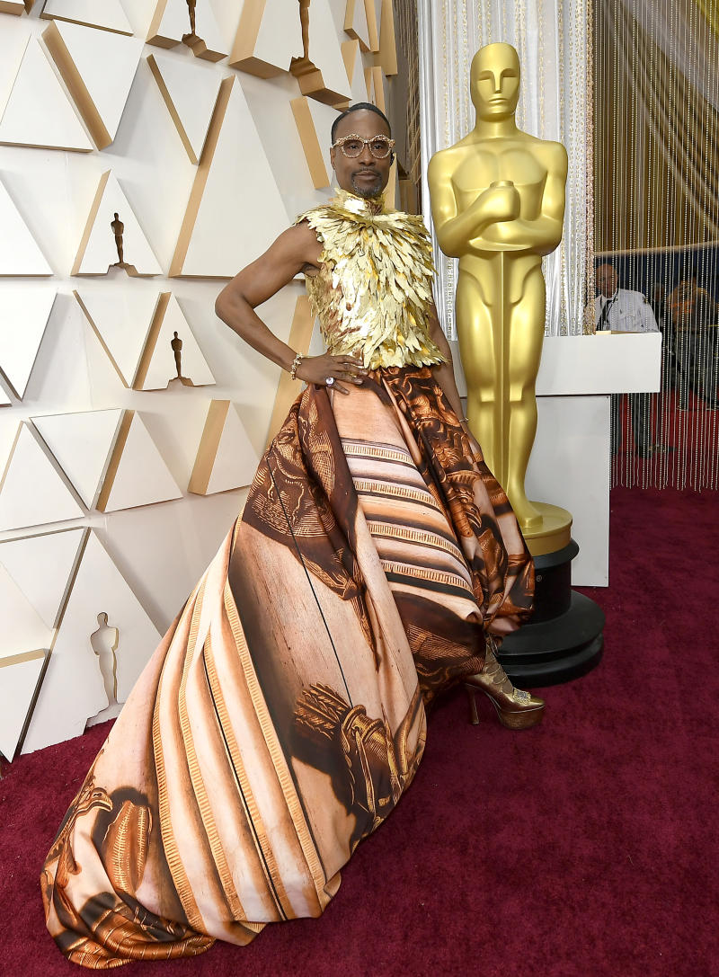 Billy Porter in a bespoke Giles Deacon ensemble at the 2020 Academy Awards [Photo: Getty]