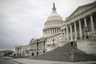 FILE PHOTO: The U.S. Capitol Building following a rainstorm on Capitol Hill in Washington