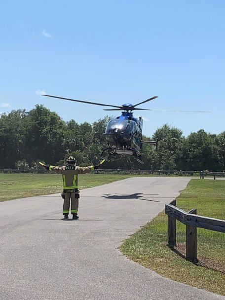 PHOTO: A woman was attacked by an alligator in Brevard County, Fla., on Saturday, May 25, 2019. She was seriously injured and flown to an area hospital. (Brevard County Fire Rescue)