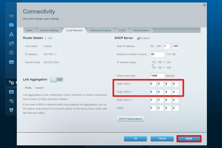 Linksys Router Change DNS Settings