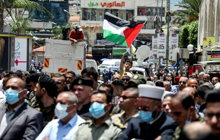 Palestinians, some clad in masks due to the COVID-19 pandemic, have protested against Israeli plans to annex parts of the occupied West Bank (AFP Photo/JAAFAR ASHTIYEH)