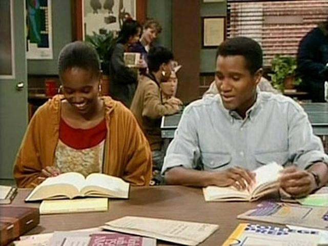 Erika Alexander as Pam Tucker and Seth Gilliam as Aaron Dexter in 'The Cosby Show' (Photo: NBC)