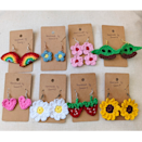 """Need a low-commitment, adorable way to test the trend? Go with these handmade earrings, which would also make a <a href=""""https://www.glamour.com/gift-ideas?mbid=synd_yahoo_rss"""" rel=""""nofollow noopener"""" target=""""_blank"""" data-ylk=""""slk:great gift"""" class=""""link rapid-noclick-resp"""">great gift</a>. $9, Etsy. <a href=""""https://www.etsy.com/listing/944510810/crochet-earrings"""" rel=""""nofollow noopener"""" target=""""_blank"""" data-ylk=""""slk:Get it now!"""" class=""""link rapid-noclick-resp"""">Get it now!</a>"""