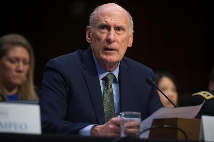 """Outgoing US Director of National Intelligence Dan Coats """"plays it down the middle,"""" his deputy said (AFP Photo/SAUL LOEB)"""