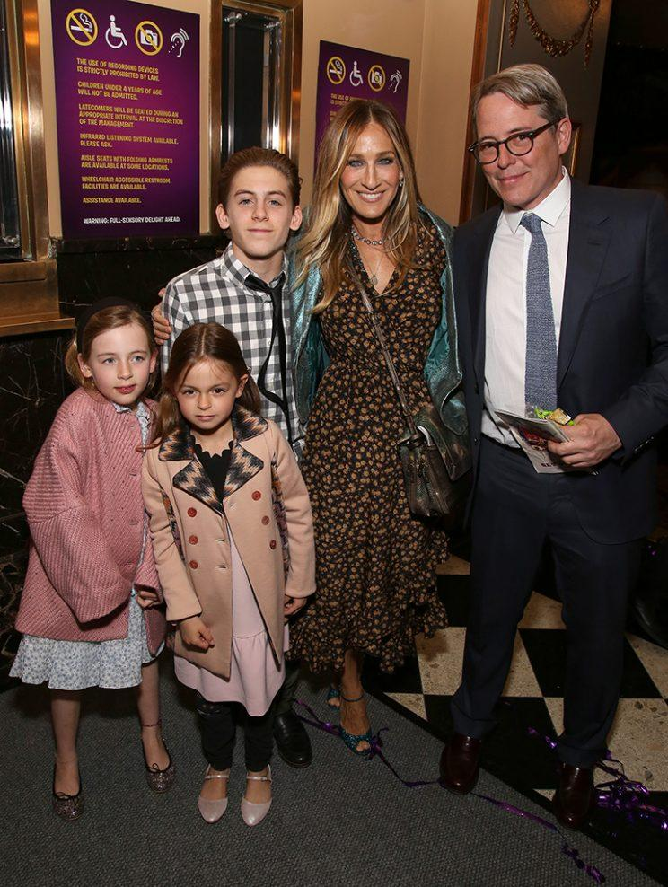 sarah jessica parker s kids make rare red carpet appearance for  tabitha broderick marion loretta broderick james wilkie broderick sarah jessica parker and matthew