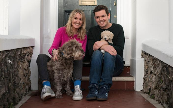 Life was quieter for Gavin, his wife - and their labradoodle Nell - when Wilbur was a puppy - Christopher Pledger