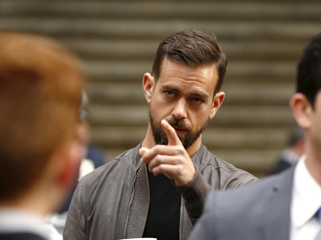 Jack Dorsey, CEO of Square and CEO of Twitter, arrives at the New York Stock Exchange for the IPO of Square Inc., in New York November 19, 2015. REUTERS/Lucas Jackson