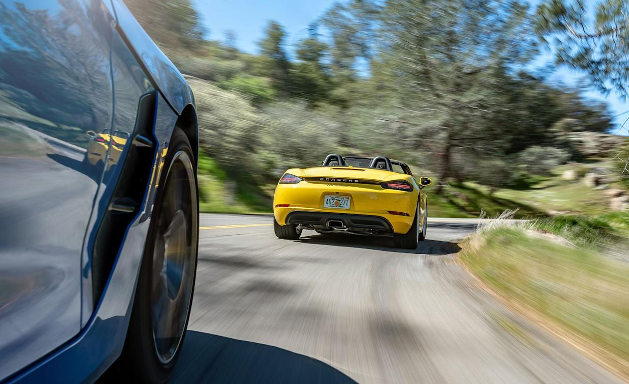 <p>The BMW comes off as a veritable bargain next to its competition. While it's roughly $4500 more expensive, the Racing Yellow Boxster on these pages could easily be the most basic 718 you will ever lay eyes on. With an out-the-door price of $68,070, the Boxster cedes eight points to the Z4 in the scorecard's price and features categories alone.</p>