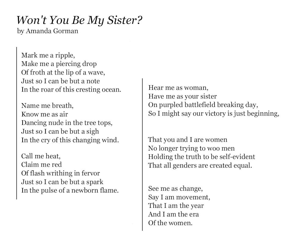 Won't You Be My Sister