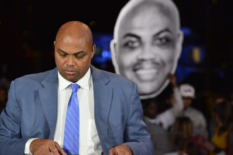 A Charles Barkley head bigger than the real one. (Getty Images)