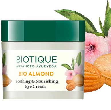 """<a href=""""https://fave.co/30Oi4Ch"""" rel=""""nofollow noopener"""" target=""""_blank"""" data-ylk=""""slk:BUY HERE"""" class=""""link rapid-noclick-resp"""">BUY HERE</a> BIO ALMOND SOOTHING EYE CREAM 15GM, for Rs. 199"""