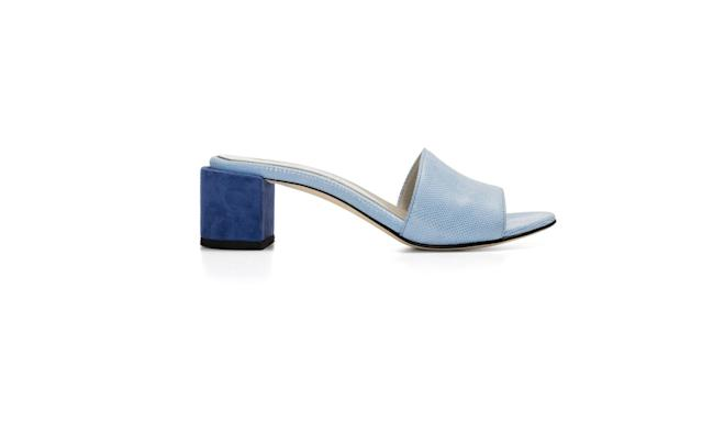 "<p>Eva Mules in Sea Blue, $430, <a href=""https://dearfrances.com/collections/all-styles/products/eva-mules-sea-blue"" rel=""nofollow noopener"" target=""_blank"" data-ylk=""slk:dearfrances.com"" class=""link rapid-noclick-resp"">dearfrances.com</a> </p>"
