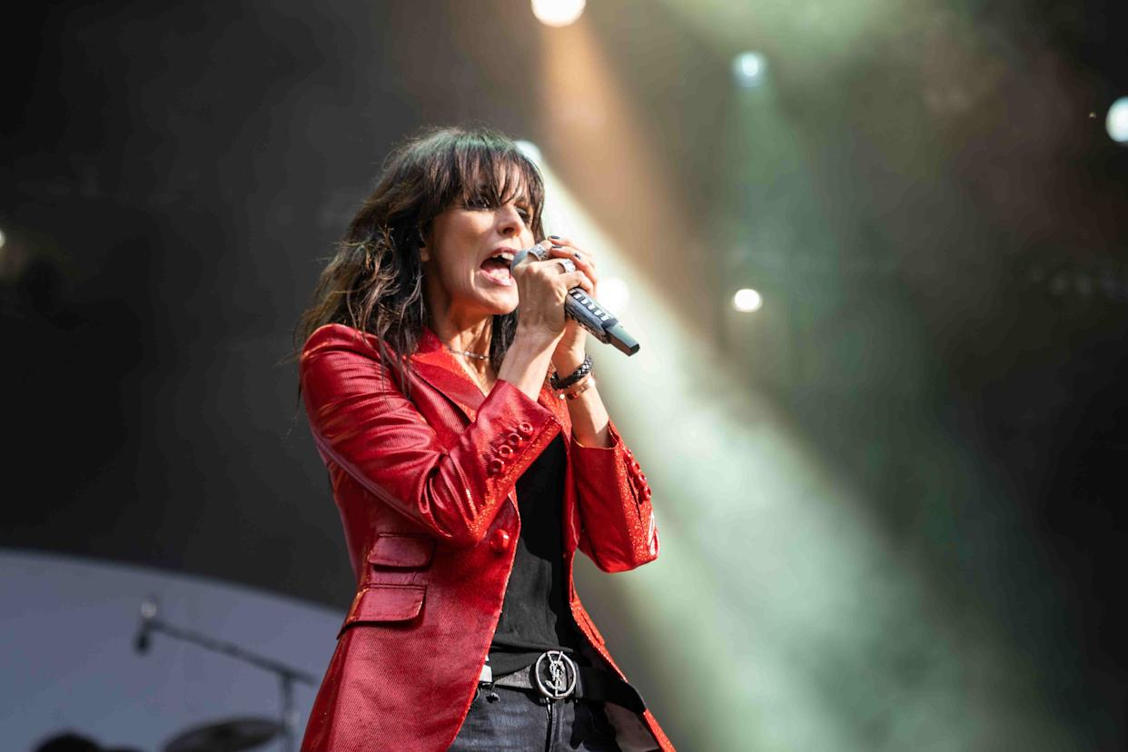 Skanderborg, Denmark. 07th, August 2019. The German singer Nena performs a live concert during the Danish music festival SmukFest 2019 in Skanderborg. (Photo by: Avalon/PYMCA/Gonzales Photo/Rod Clemen/Universal Images Group via Getty Images)
