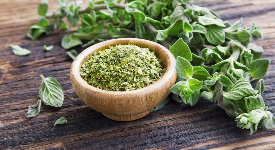 """<p>This powerful green herb is """"rich in antioxidants that fight free radical damage,"""" says Mirkin, potentially helping to stave off disease-causing inflammation.</p><p><strong>Try it: </strong>Sprinkle this subtly sweet Italian staple on everything from salads to pastas.</p>"""