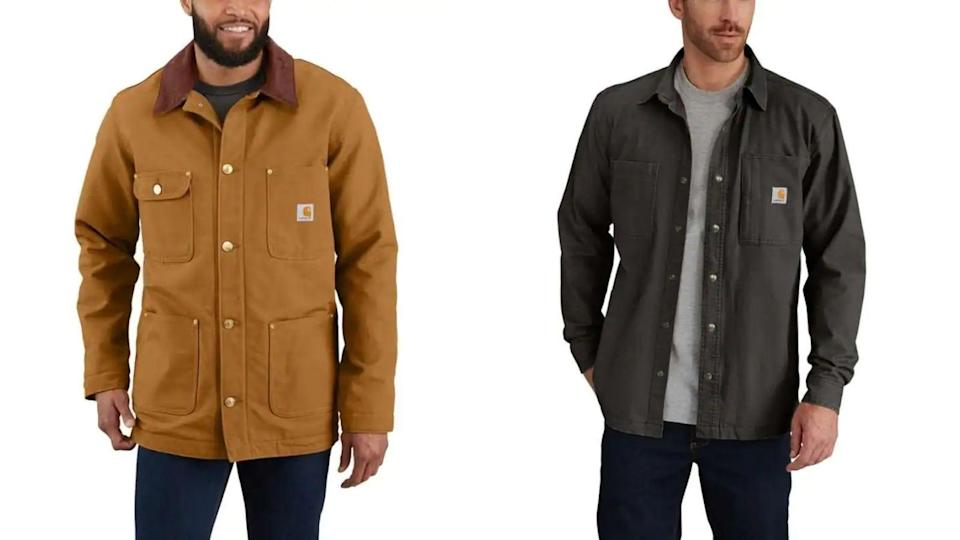 Hard-wearing and durable fabrics from Carhartt come in larger sizing.