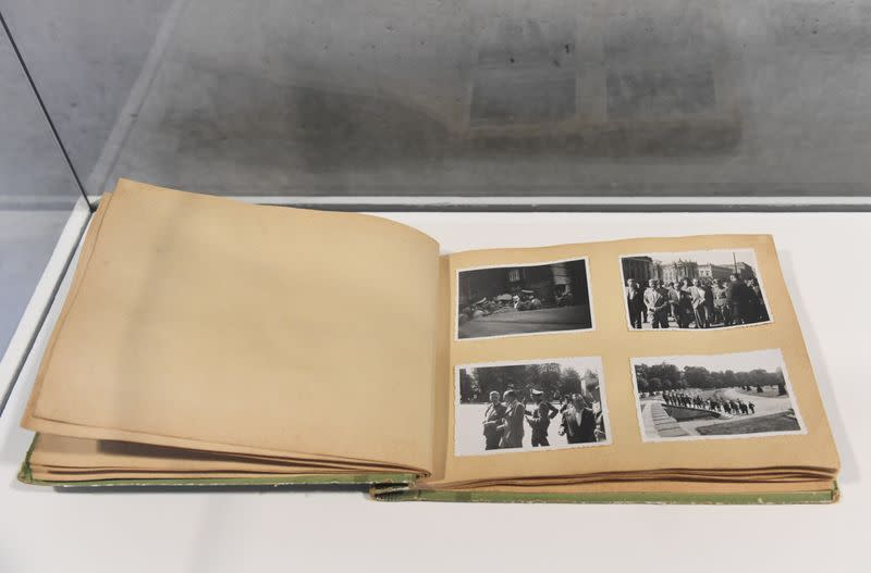 Newly discovered photos of a Nazi German death camp presented at a news conference in Berlin