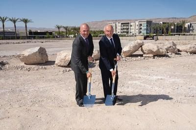 The Howard Hughes Corporation® breaks ground on Tanager Echo in Downtown Summerlin®. David R. O'Reilly, CEO, and Kevin T. Orrock, President of the Las Vegas Region.