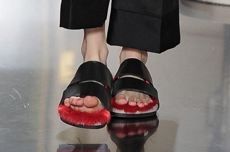 But it's a definite no on these furry flip-flops. No. Just no.